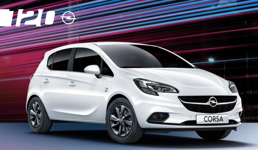 Opel corsa 120 anniversary